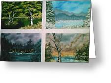 Colors Of Landscape Greeting Card