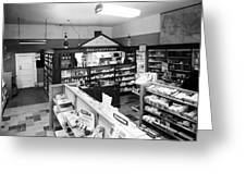 Counter In Drugstore 1959 Black White 1950s Greeting Card