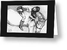 Cowgirl Riding A Hourse Greeting Card