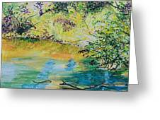 Creekside Greeting Card by Lucinda  Hansen