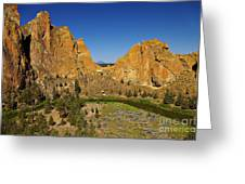 Crooked River At Smith Rock State Park Oregon  Greeting Card