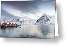 Dawn At Hamnoy On The Lofoten Islands Greeting Card