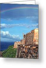 El Morro Fortress Rainbow Greeting Card