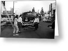 Fire Department Rescue Circa 1960 Black White Greeting Card