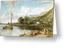 Fishing On The Estuary Greeting Card