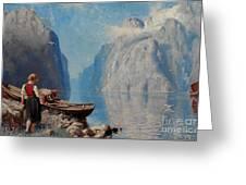 Fjord Landscape Greeting Card