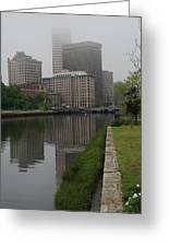Foggy Morning In Providence Greeting Card