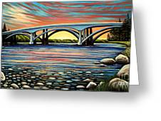 Folsom Bridge Greeting Card