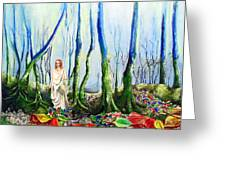 Forest Of Divine Light Greeting Card