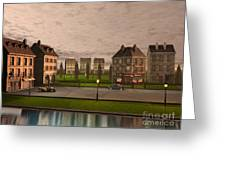 French City Landscrape Greeting Card