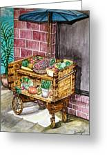 Fruit And Vegetable Stand In Nice, France Greeting Card