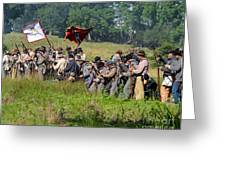 Gettysburg Confederate Infantry 9281c Greeting Card