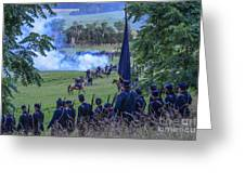 Gettysburg Union Artillery And Infantry 7457c Greeting Card