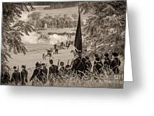 Gettysburg Union Artillery And Infantry 7457s Greeting Card