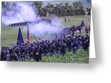 Gettysburg Union Artillery And Infantry 7496c Greeting Card