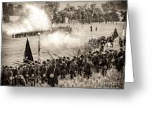 Gettysburg Union Artillery And Infantry 7496s Greeting Card
