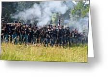 Gettysburg Union Infantry 9360c Greeting Card
