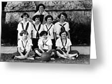 Girls High School Basketball Team 1910s Black Greeting Card