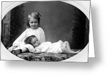 Girls Posing June 30 1905 Black White 1900s Greeting Card