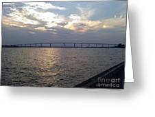 Gov Thomas Johnson Bridge Greeting Card