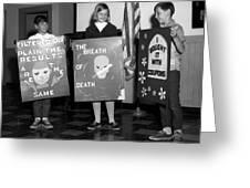 Grade School Children Kids Posters Circa 1960 Greeting Card