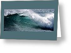 Green Cresting Wave, Hawaii Greeting Card