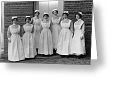 Group Nurses 19151916 Black White 1910s 1915 Greeting Card