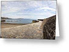 Harbour Wall Lyme Bay Dorset Greeting Card