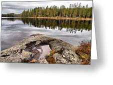 Haukkajarvi Landscape Greeting Card