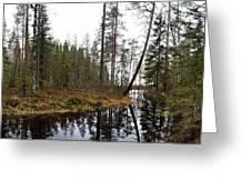 Haukkajoki Panorama 2 Greeting Card