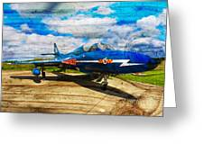Hawker Hunter T7 Aircraft On Wood Greeting Card