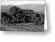 High School Football Game 1912 Black White 1910s Greeting Card
