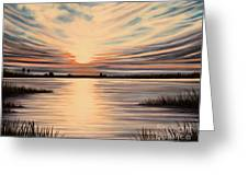 Highlights Of A Sunset Greeting Card