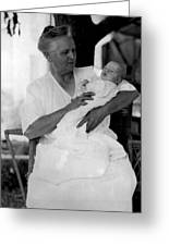 Holding Baby 1927 Black White 1920s Archive Boy Greeting Card