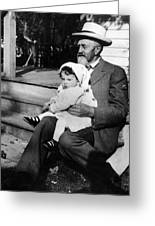 Holding Toddler 1912 Black White 1910s Archive Greeting Card