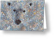 Holiday Hearts Polar Bear Greeting Card