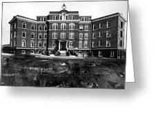 Hospital 1912 Black White 1910s Archive Brick Greeting Card