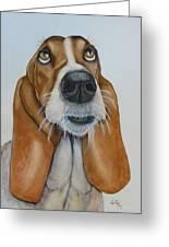 Hound Dog Eyes Greeting Card