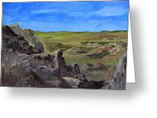 Hunters Overlook Badlands South Dakota Greeting Card