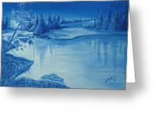 Idaho Lakeside Night Greeting Card