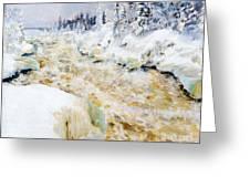Imatra In Winter  Greeting Card