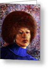 Impassable Me - Angela Davis1 Greeting Card by Reggie Duffie