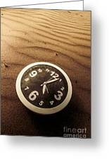 In Waves Of Lost Time Greeting Card