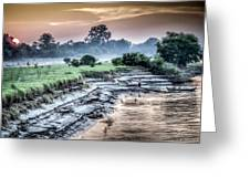 Irrawaddy River  Greeting Card