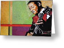 Jazz Guitarist Greeting Card