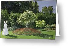 Jeanne Marie Lecadre In The Garden Greeting Card