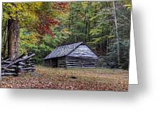 Jim Bales Place Barn Along Roaring Fork Motor Trail Greeting Card