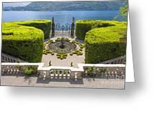 Lake Como,villa Carlotta, Italy Greeting Card
