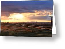 Last Light On The Railroad Greeting Card