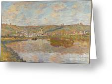 Late Afternoon Vetheuil Greeting Card